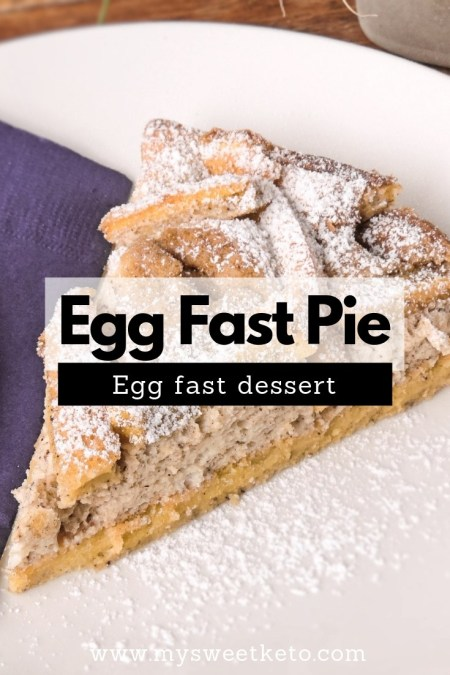 Eggs are simply awesome. There's just so much you can make with them! This egg fast dessert (Egg fast pie) consists almost solely of eggs, cream cheese, and butter. #eggfast #ketoeggfast #keto #ketogenic #recipe