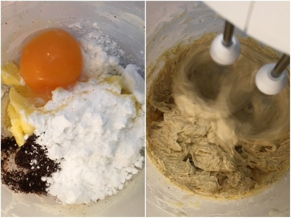 Using an electric mixer, blend together all four ingredients.