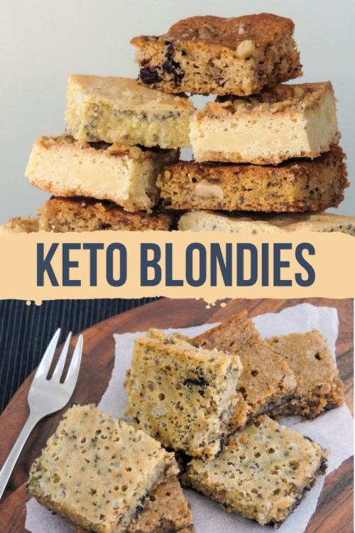 Almost like a spongy keto white chocolate! I do warn you; keto blondies might be something for you to fall in love with. Plus, less than 1g net carbs! #keto #ketoblondies #ketogenic #lowcarb #dessert #mysweetketo