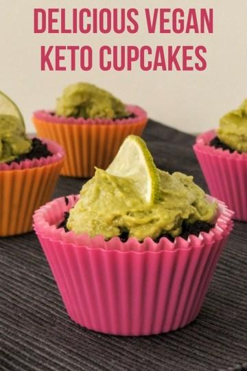 Vegan, vegetarian, or omnivorous, these vegan keto cupcakes are awesome if you fancy a high-fat, low-carb keto dessert. #keto #veganketo #ketogenic #lowcarb #recipe #dessert #myweetketo