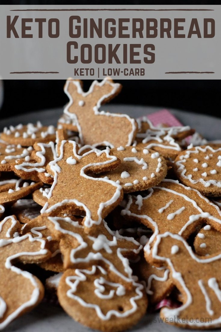 Low Carb or Keto Gingerbread Cookies (or Spiced-up Honey Cookies for paleo folks) are the best way to bring the Christmas spirit into your home! #keto #ketogenic #lowcarb #ketocookies #ketochristmas #recipe #dessert #mysweetketo