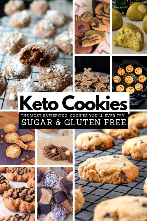 This collection of the Best Keto Cookie Recipes contains so many delicious low carb cookie recipes that it would take you a year to bake them all. #keto #ketogenic #lowcarb