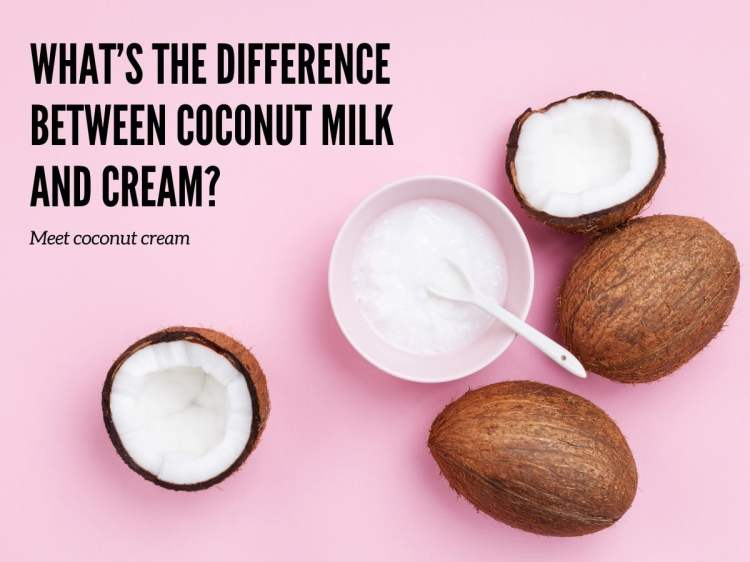 Quelle est la différence entre le lait de coco et la crème_