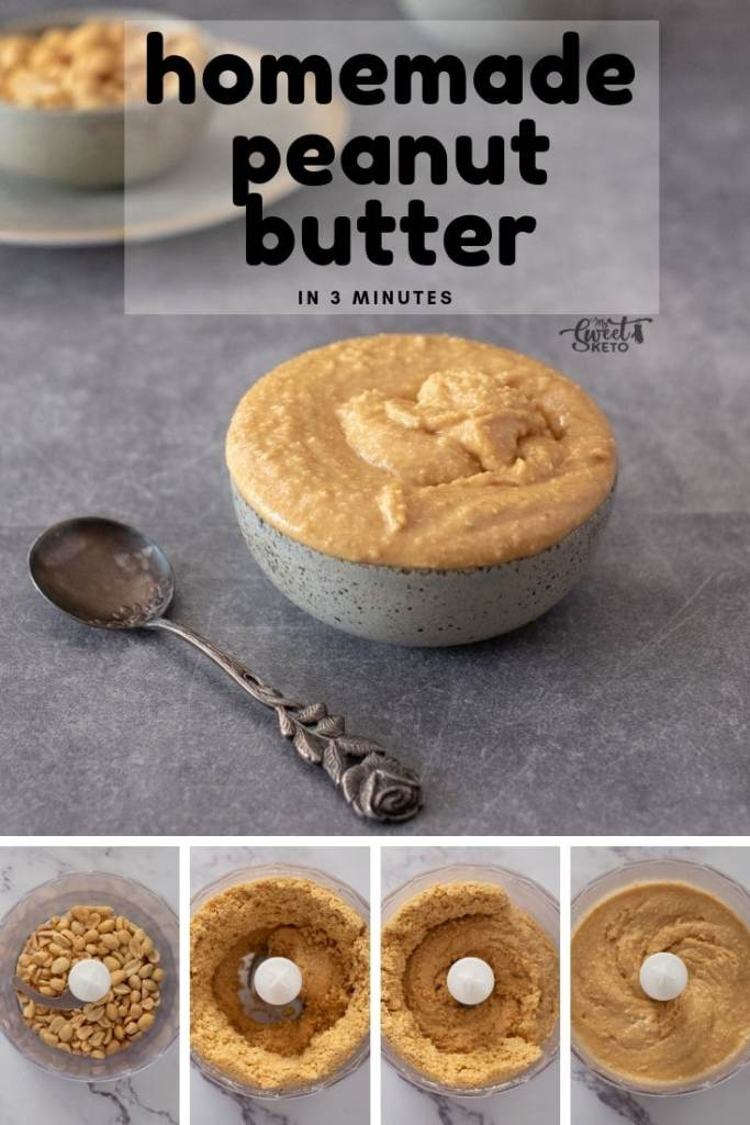 Homemade Peanut Butter. Only 2 ingredients and 3 minutes and you will have delicious homemade peanut butter. So easy you won't believe it!