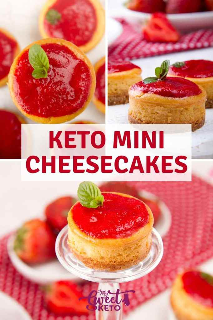 Creamy and delicious keto mini cheesecakes. Single-serving size. They are easy to make and great for parties, holidays, weddings, or whatever the occasion! #keto