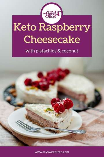 Keto Raspberry Cheesecake Recipe by My Sweet Keto