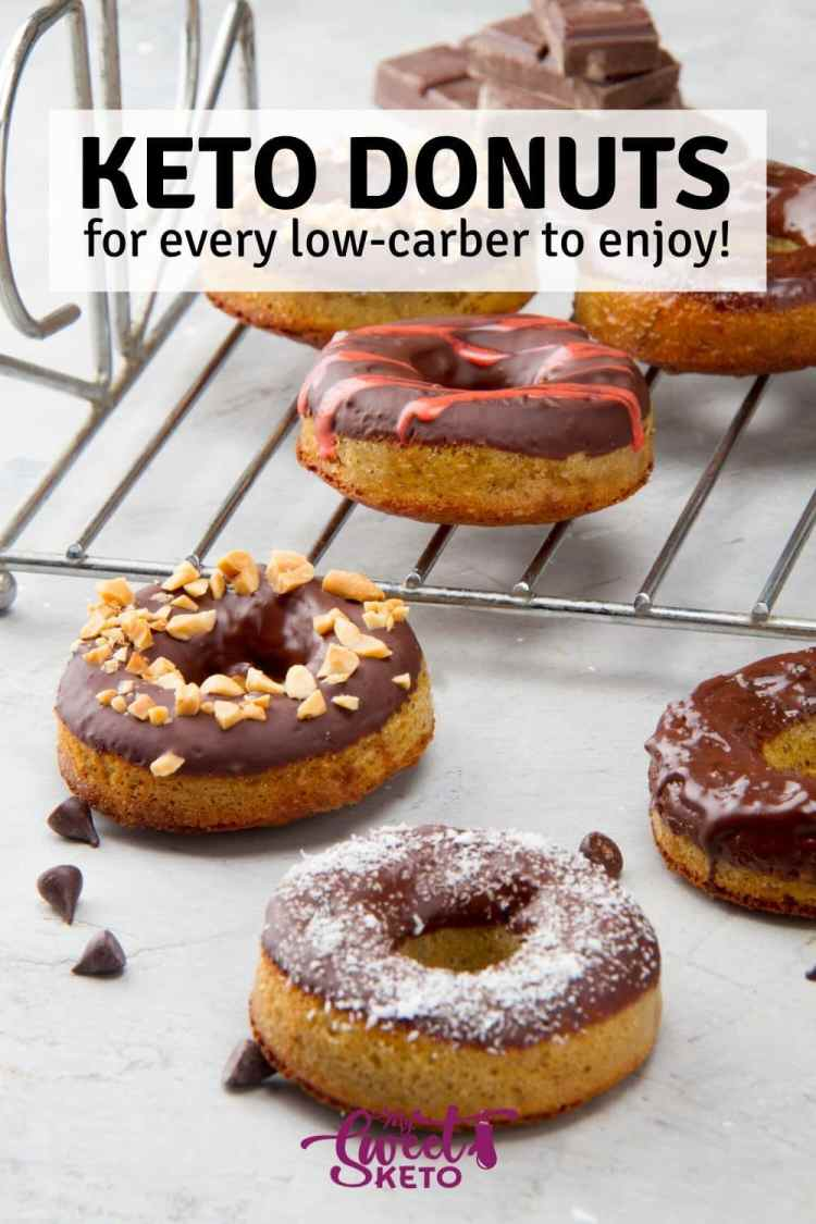 These sweet dough rings are usually fried and covered with sugar or chocolate glaze. We've turned them into keto donuts for every low-carber to enjoy! #ketodonuts #lowcarbdonuts