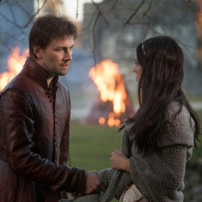 "Reign -- ""Pilot"" -- Image Number: RE100a_216r.jpg -- Pictured (L-R): Torrance Coombs as Bash and Adelaide Kane as Mary, Queen of Scots -- Photo: Joss Barratt/The CW -- © 2013 The CW Network, LLC. All rights reserved."