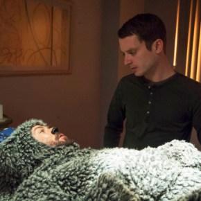WILFRED: Episode 1: Uncertainty (Season Premiere, Airs Thursday, June 20, 10:00 pm e/p). Pictured: (L-R): Jason Gann as Wilfred, Elijah Wood as Ryan. CR: Prashant Gupta/FX