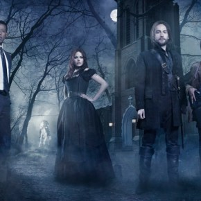 SLEEPY HOLLOW - From co-creators/executive producers Alex Kurtzman and Roberto Orci  comes the adventure thriller SLEEPY HOLLOW. In this modern-day retelling of Washington Irving's classic, ICHABOD CRANE (Tom Mison, third from L) is resurrected and pulled two and a half centuries through time to find that the world is on the brink of destruction and that he is humanity's last hope, forcing him to team up with a contemporary police officer (Nicole Beharie, R) to unravel a mystery that dates back to the founding fathers. The adventure thriller SLEEPY HOLLOW premieres this fall on FOX. Also pictured L-R: Orlando Jones and Katia Winter. ©2013 Fox Broadcasting Co. CR: Michael Lavine/FOX