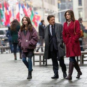 THE MICHAEL J FOX SHOW -- Pilot -- Pictured: Juliette Goglia, Michael J Fox, Betsy Brandt (l-r)  -- (Photo by: Eric Liebowitz/NBC)