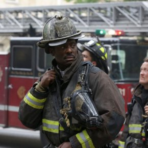 "CHICAGO FIRE -- ""A Problem House"" Episode 201 -- Pictured: (l-r) Eamonn Walker as Battalion Chief Wallace Boden, Christian Stolte as Randy ""Mouch"" McHolland -- (Photo by: Elizabeth Morris/NBC)"