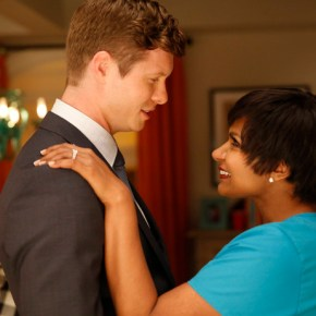 """THE MINDY PROJECT: Casey (guest star Anders Holm, L) and Mindy (Mindy Kaling, R) return from Haiti in the """"All My Problems Solved Forever"""" season premiere episode of THE MINDY PROJECT airing Tuesday, Sept. 17 (9:30-10:00 PM ET/PT) on FOX. ©2013 Fox Broadcasting Co. Cr: Greg Gayne/FOX"""