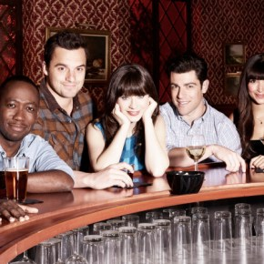 NEW GIRL:  Cast L-R:  Lamorne Morris, Jake Johnson, Zooey Deschanel, Max Greenfield and Hannah Simone.  The third season of NEW GIRL premieres Tuesday, Sept. 17 (9:00-9:30 PM ET/PT) on FOX.  ©2013 Fox Broadcasting Co. Cr:  Alexei Hay/FOX