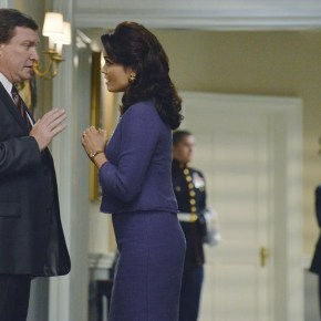 "SCANDAL - ""It's Handled"" - With Olivia's name out there as the President's mistress, both the White House and Pope & Associates face their biggest scandal to date, and a surprise allegiance is formed in order to get things handled. Meanwhile, Olivia's father, Rowan, will stop at nothing to carry out his orders and no one, including Olivia, can stand in his way, on the Season 3 Premiere of ""Scandal,"" THURSDAY OCTOBER 3 (10:00-11:00 p.m., ET) on the ABC Television Network. (ABC/Eric McCandless)"