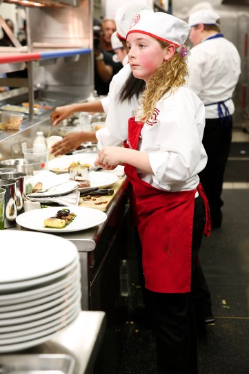 """MASTERCHEF: Contestant Kayla in the all-new """"Junior Edition: Restaurant Takeover"""" episode of MASTERCHEF airing Tuesday, Feb. 10 (8:00-9:00 PM ET/PT) on FOX. CR: Greg gayne / FOX. © 2014 Fox Broadcasting."""