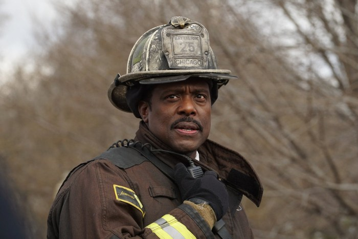"CHICAGO FIRE -- ""Not Everyone Makes It"" Episode 412 -- Pictured: Eamonn Walker as Chief Wallace Boden -- (Photo by: Elizabeth Morris/NBC)"