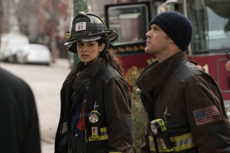 "CHICAGO FIRE -- ""I Will Be Walking"" Episode 419 -- Pictured: (l-r) Miranda Rae Mayo as Stella Kidd, Jesse Spencer as Matthew Casey -- (Photo by: Elizabeth Morris/NBC)"