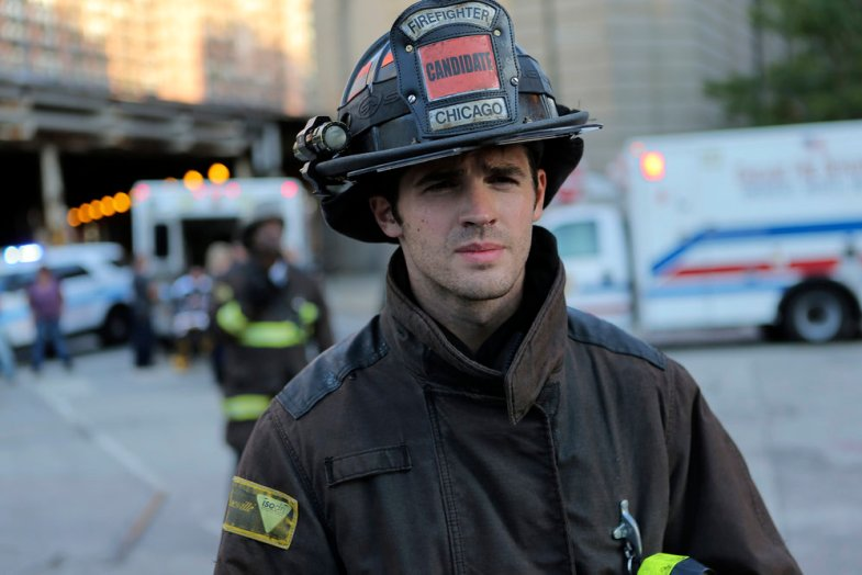 "CHICAGO FIRE -- ""A Real Wake-up Call"" Episode 502 -- Pictured: Steven R. McQueen as Jimmy Borelli -- (Photo by: Parrish Lewis/NBC)"