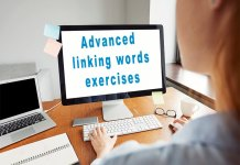 advanced linking words exercises