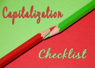 capitalization checklist