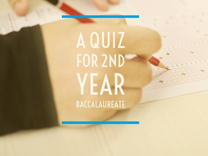 A quiz for 2nd year Baccalaureate