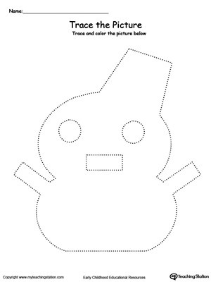 Snowman Picture Tracing