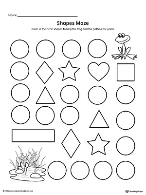 Circle Shape Maze Printable Worksheet