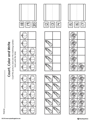 Ten Frame Count Color And Write The Number Printable