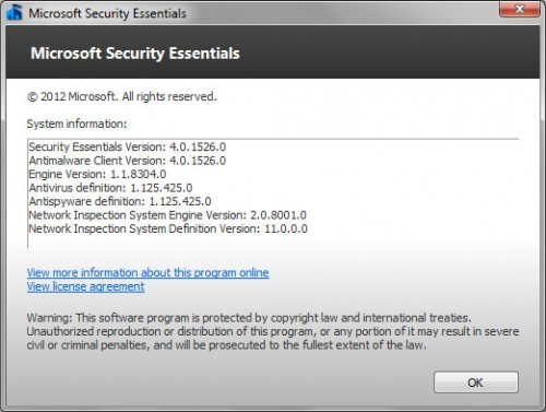 Updating windows security essentials manually