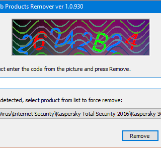 completely remove kaspersky lab products using kavremover
