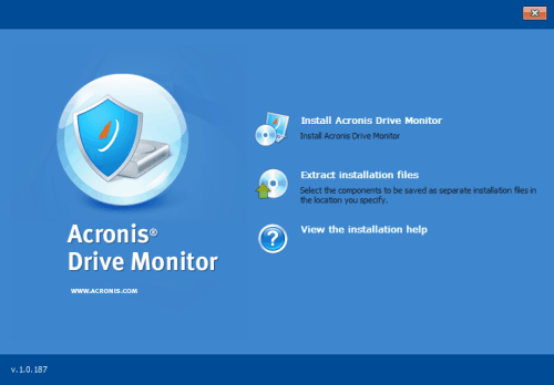 acronis drive monitor install
