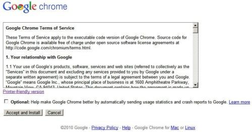 Google Chrome Enterprise EULA