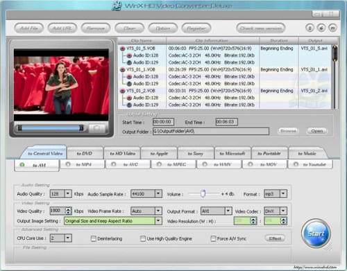 WinX HD Video Converter Deluxe - All-in-one HD Video Converting Solution