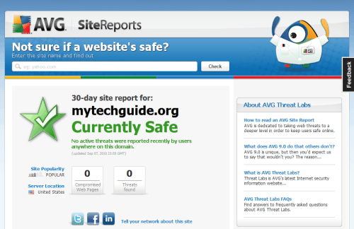 Not sure if a website's safe? AVG Threat Labs