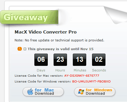 MacX Video Converter Pro Giveaway