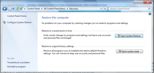 windows 8 system reset