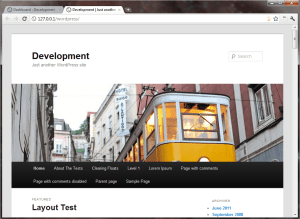 WordPress 3.2 Twenty Eleven Theme