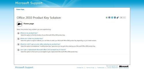 Office 2010 Product Key Solution