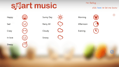 Smart Music app: Listen to songs according to your mood, weather and time of day