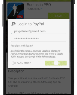 Use PayPal as alternative of Google Wallet to purchase on Play Store