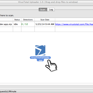 VirusTotal Uploader for OS X