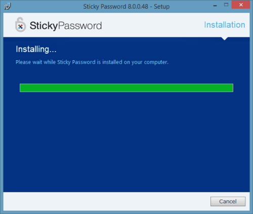 Sticky Password Premium Install Completed