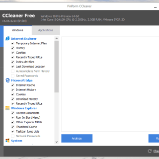 CCleaner supports Microsoft Edge browser
