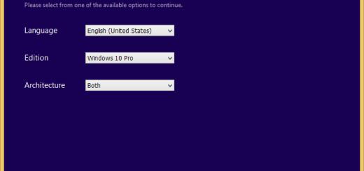 Select Windows 10 language and edition