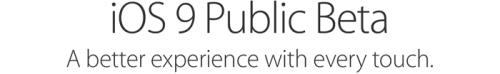 iOS 9 Public Beta Release