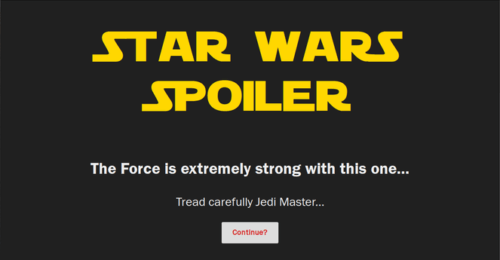 Spoiler Jedi Firefox Add-on to block spoilers