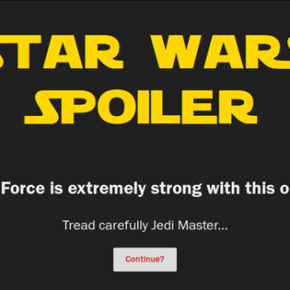 Spoiler Jedi Firefox Add-on