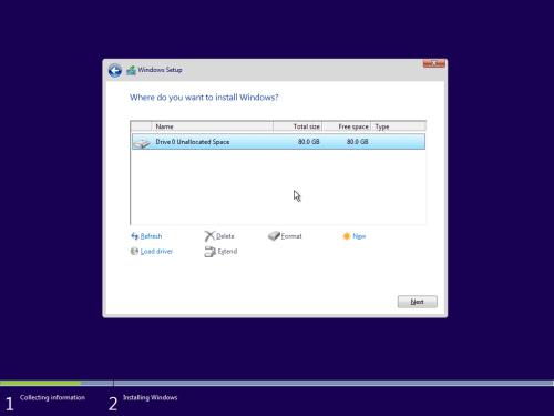 Windows 10 Setup Disk Partition