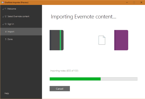 move evernote to onenote
